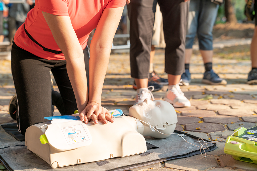 CPR at Louisville Fire Engine