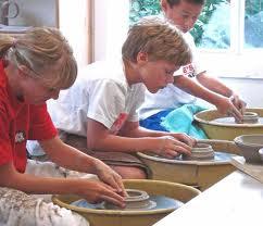 Children Making Pottery