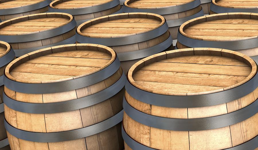 Denny Crum Signed Bourbon Barrell