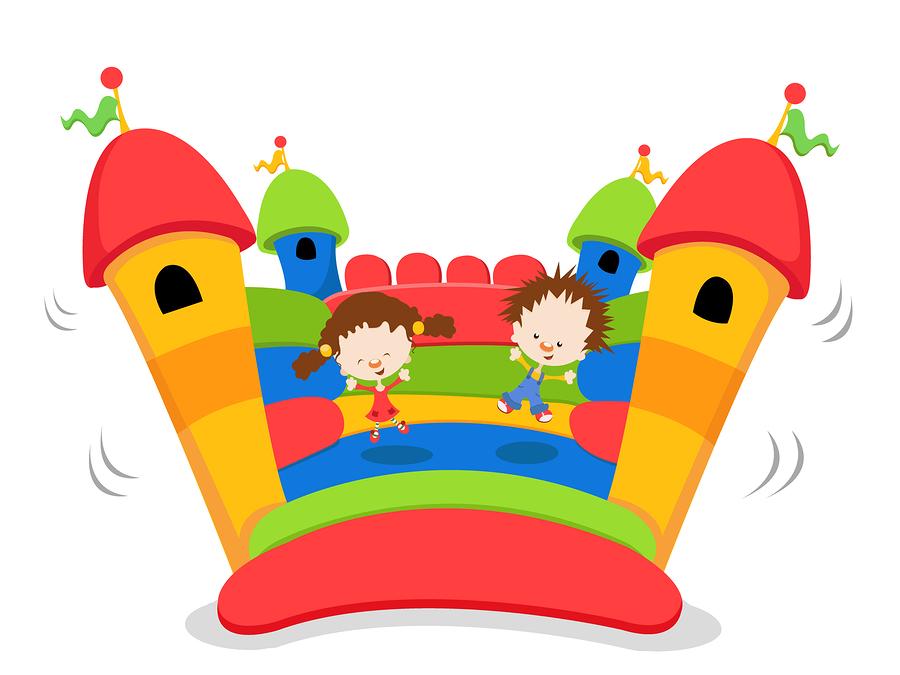 Kids in Bouncy House