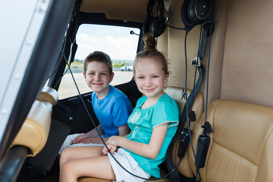 Kids in Helicopter