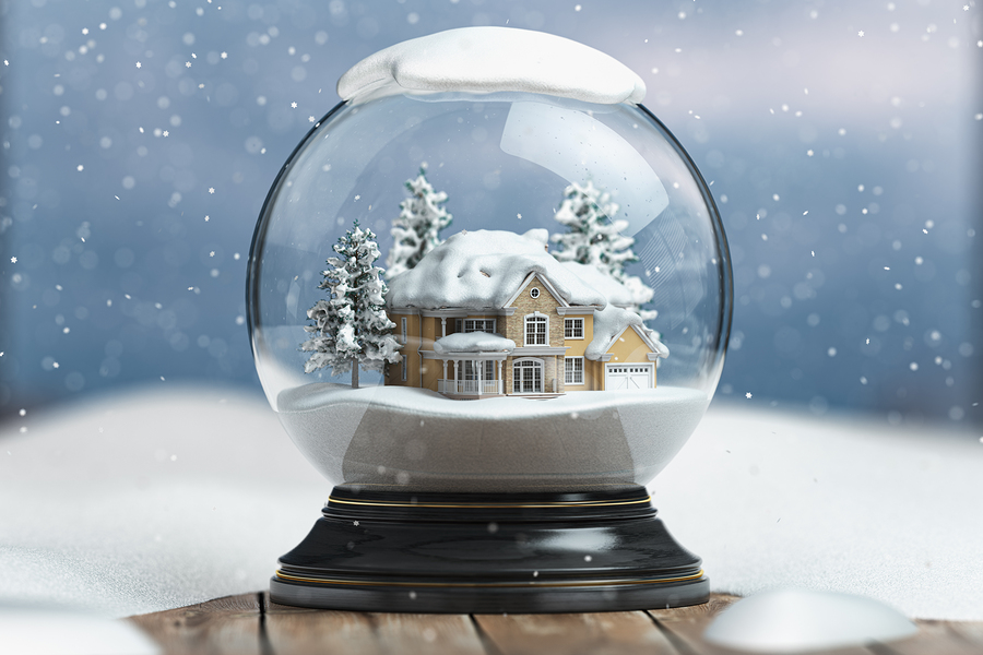 Snow Globe at the Wilderness Road Senior Center