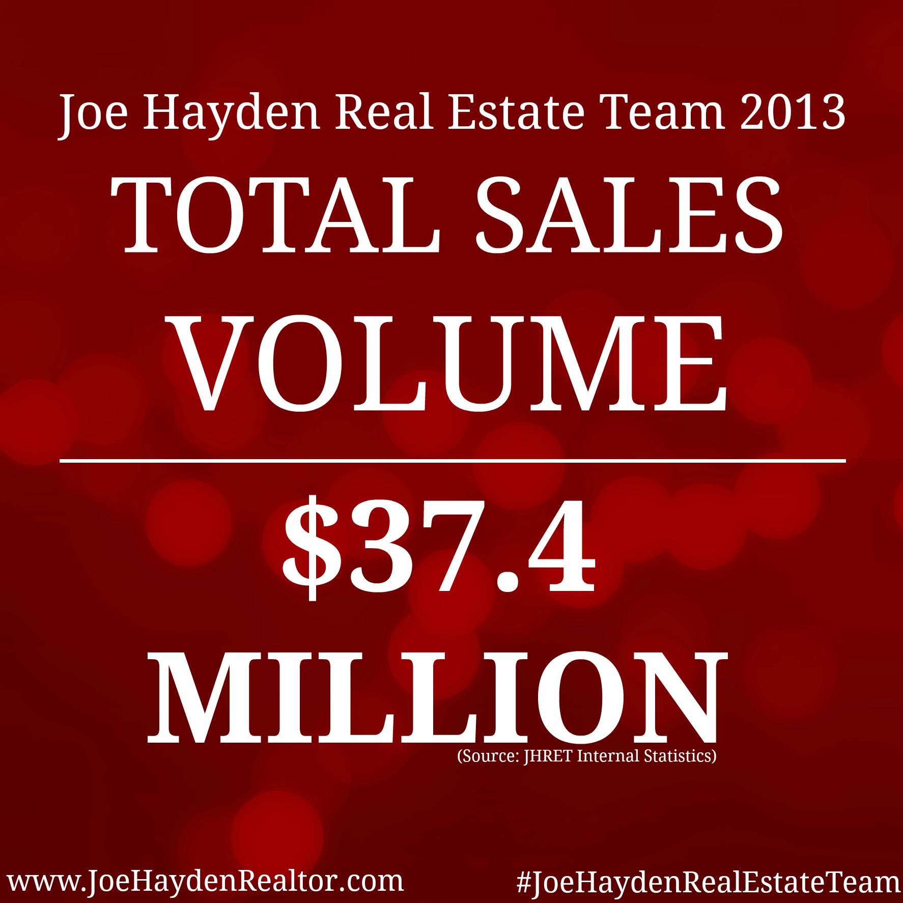 Total Sales Volume 2013