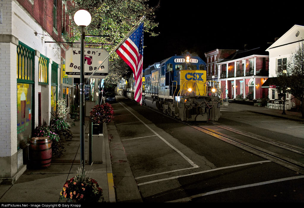 Train in Downtown LaGrange, Kentucky