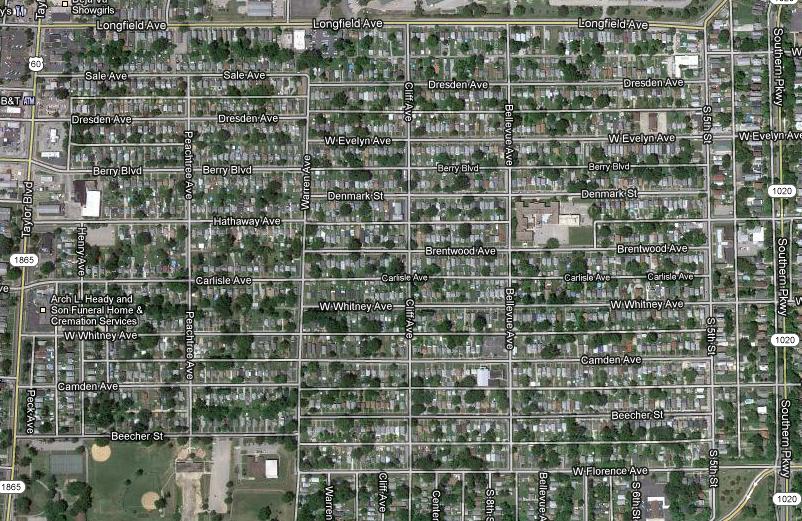 The Wyandotte Neighborhood in Louisville, Kentucky