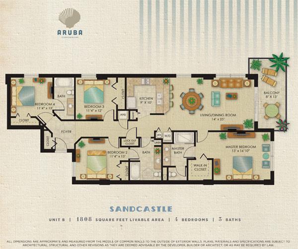 Aruba Condominium Siteplan - Luxurious floor