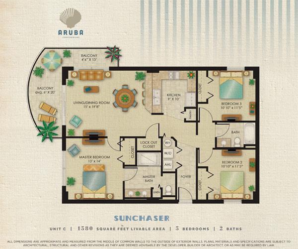 Aruba Condominium Siteplan - sunchaser