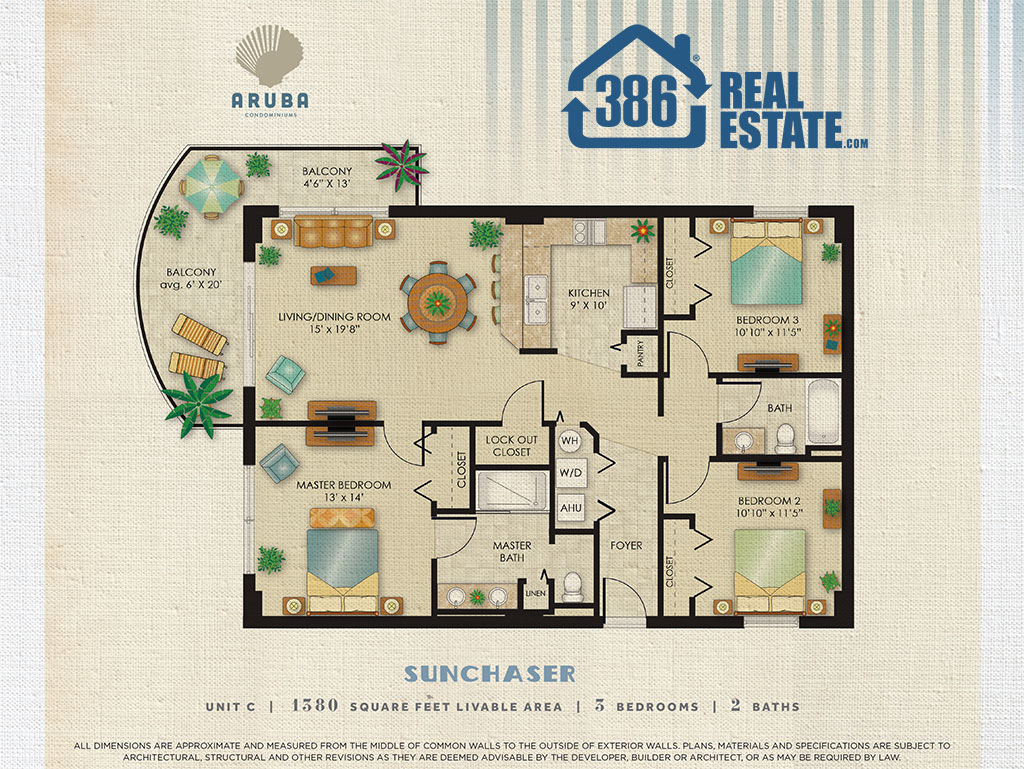 Sunchaser Floor Plan - Aruba