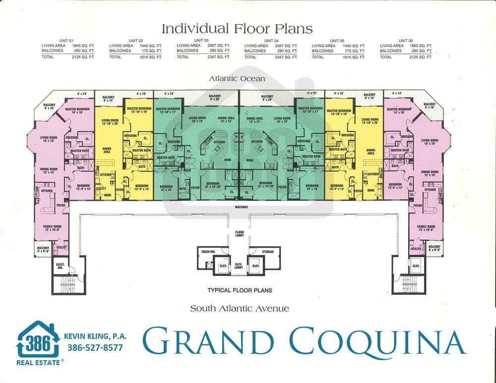 Grand Coquina Condo Floor Plans