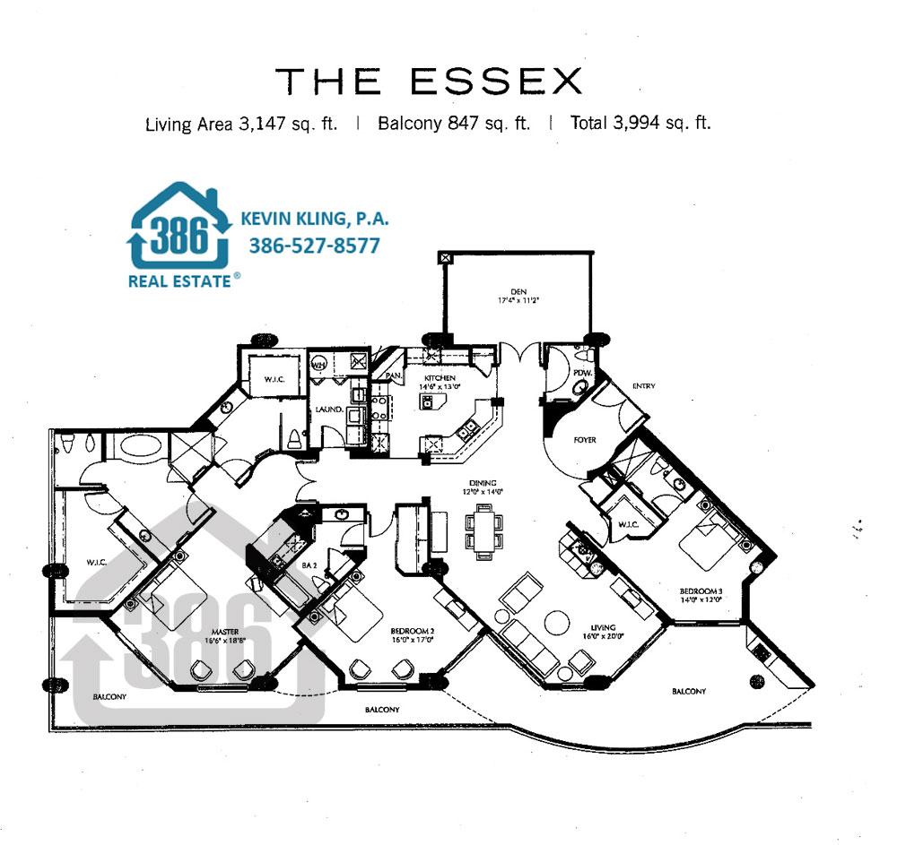 Ocean Villas Essex 2nd Floor Only