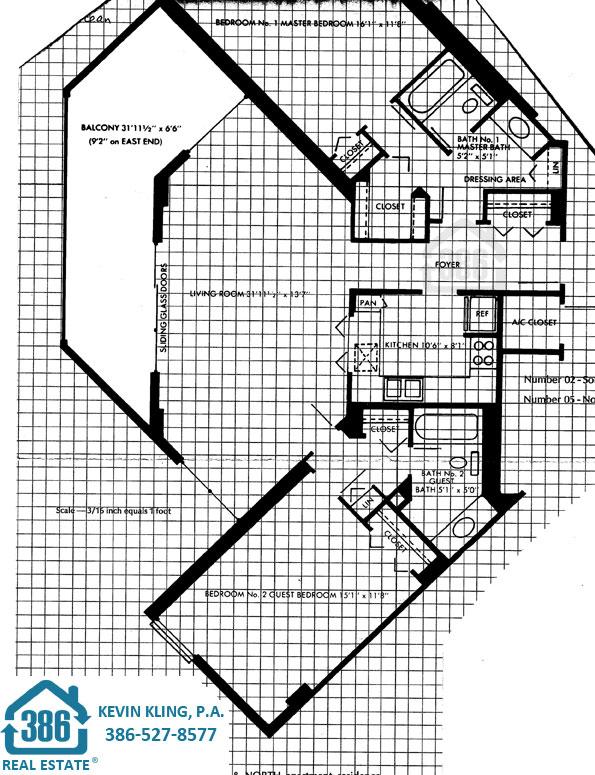 02 & 05 floor plan Oceans Two