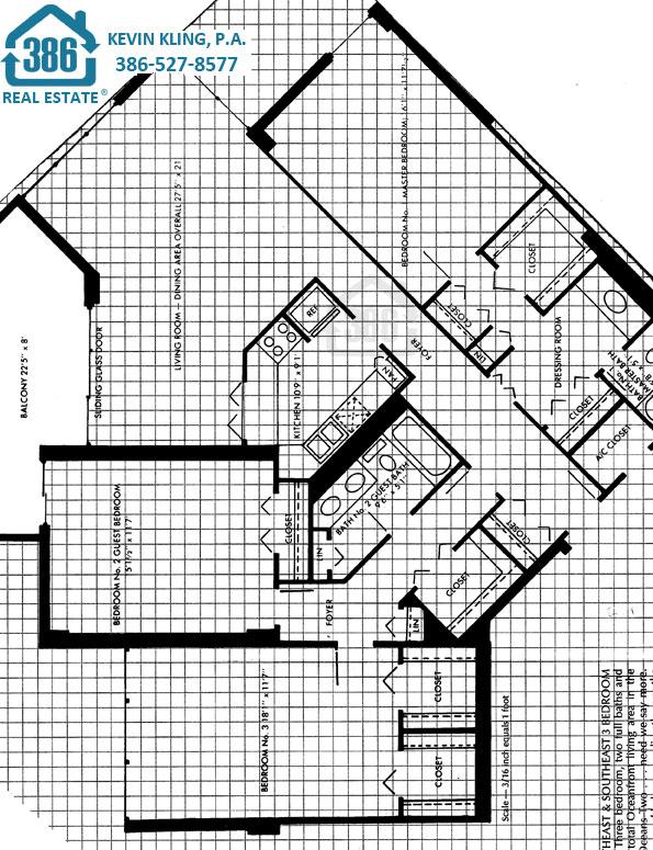 3 bed floor plan Oceans Two