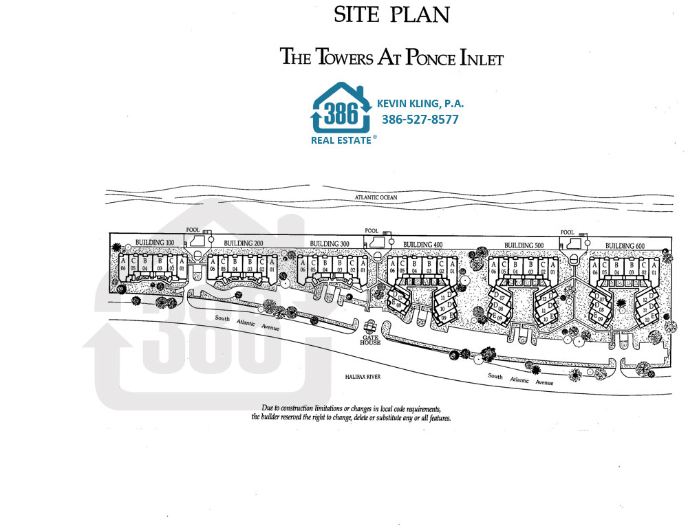 Site Plan Towers Ponce Inlet