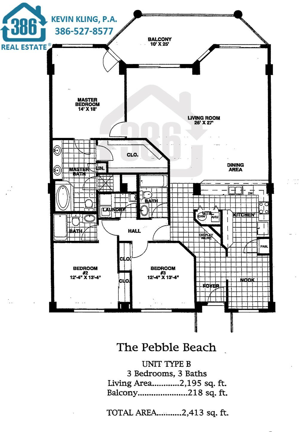 Links Pebble Beach Floor Plan