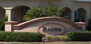 Parkside Townhomes Community Sign