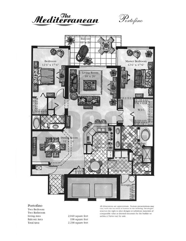 Portofino Floor Plan