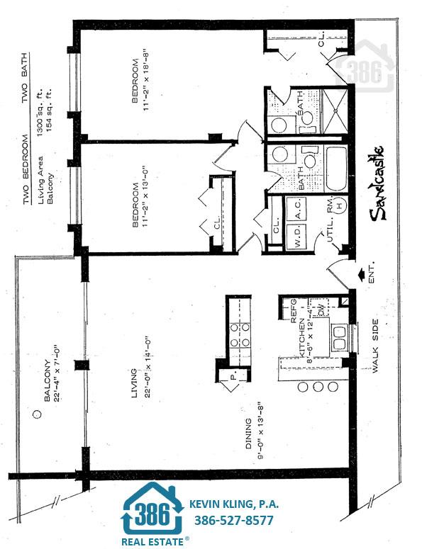 Sandcastle North 2-Bedroom Plan