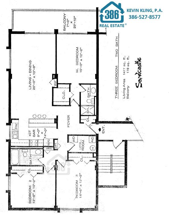 Sandcastle North 3-Bedroom Plan