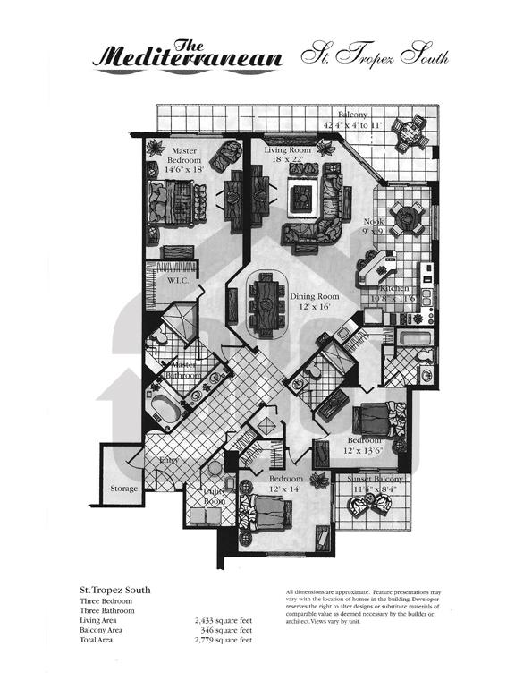 St. Tropez Floor Plan