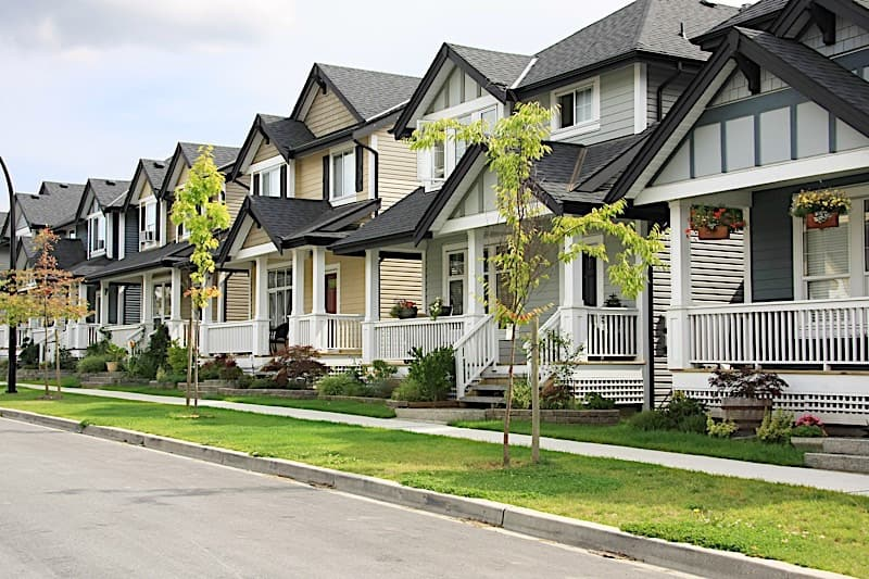 Row of Houses in HOA