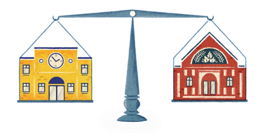 balance public vs private schools