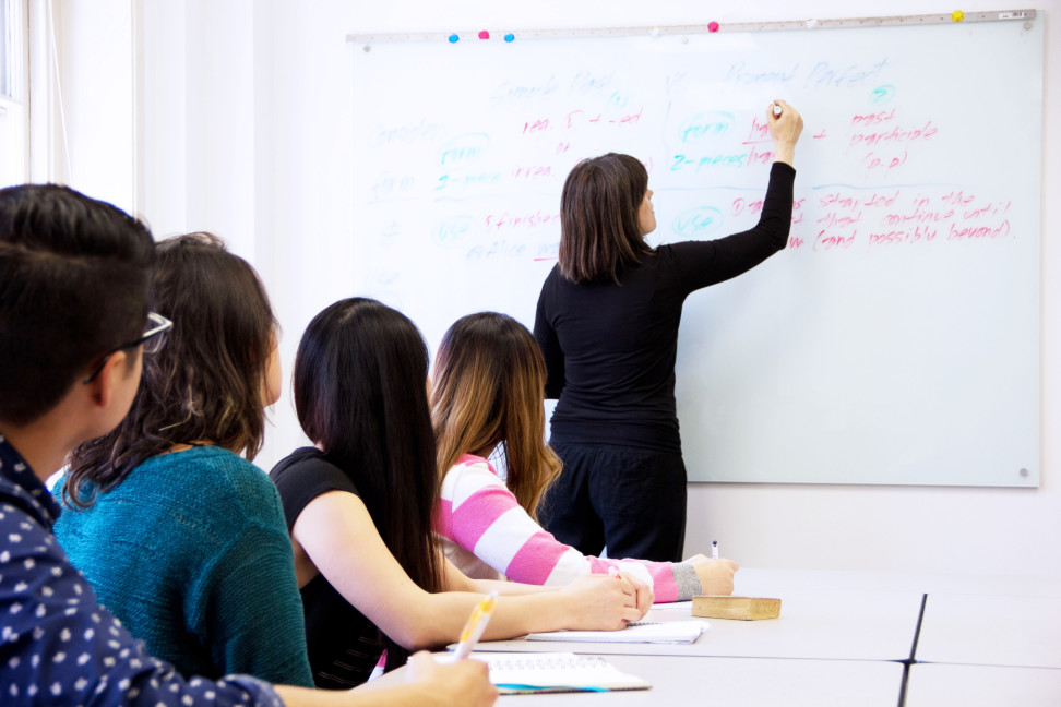 teacher-in-a- public classroom