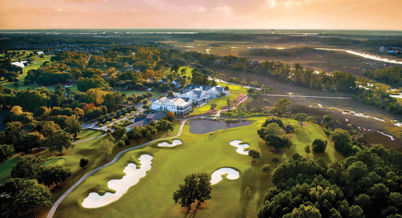 daniel island golf course at Sunset