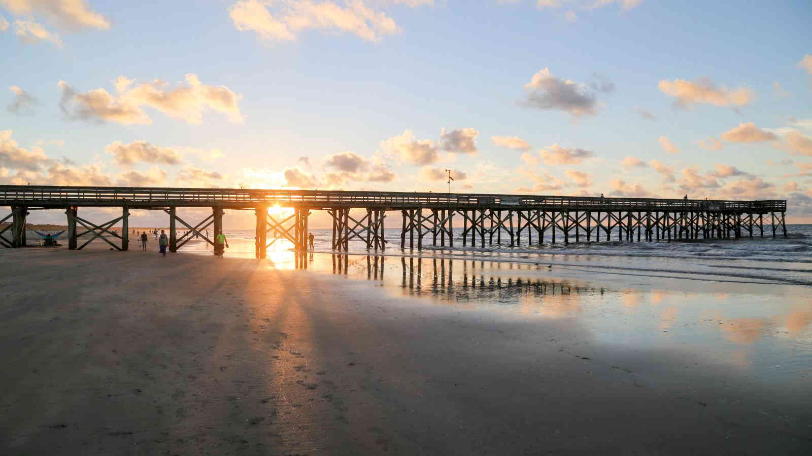 Isle of Palms Beach and Pier and Sunrise