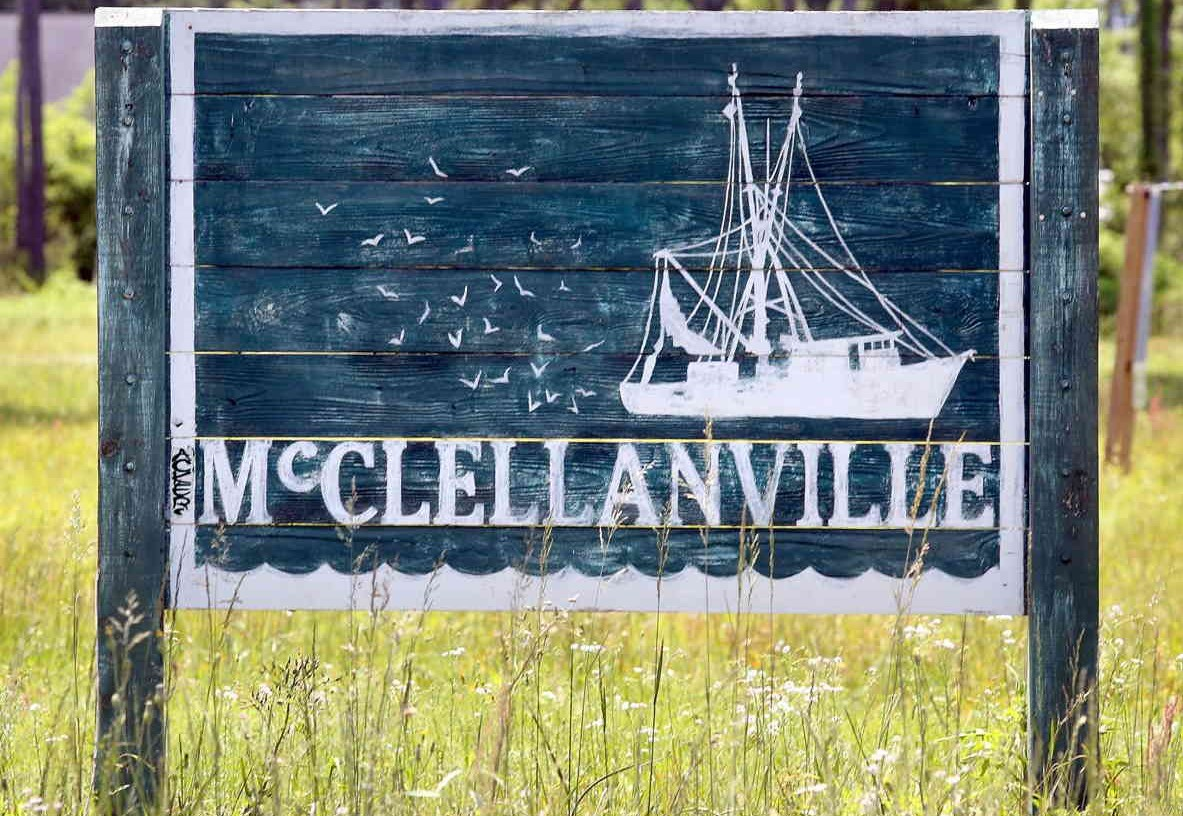 McClellanville Welcome sign