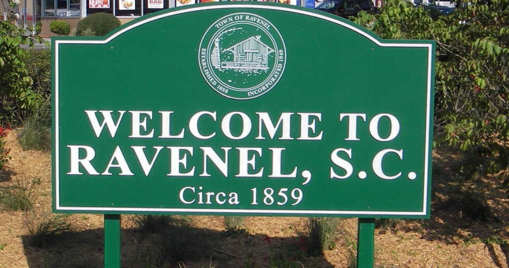 ravenel sc welcome sign