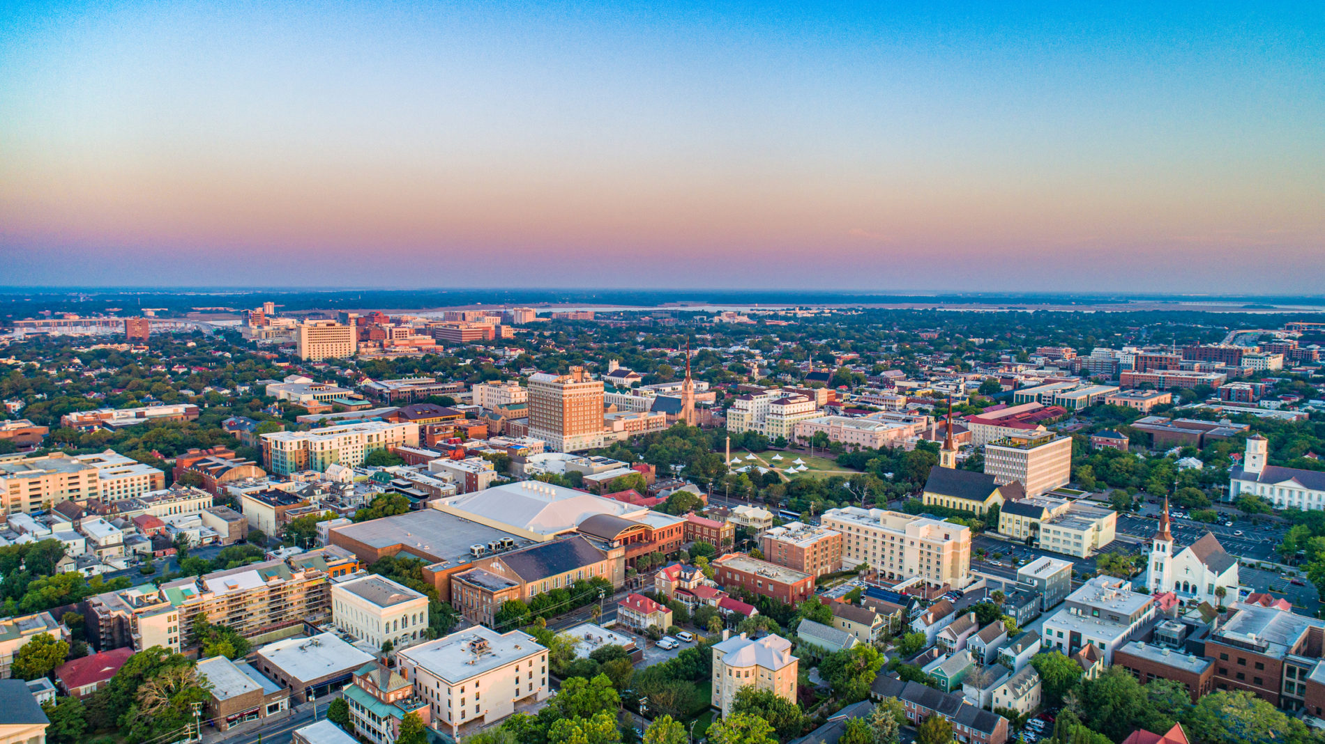 aerial view of west ashley