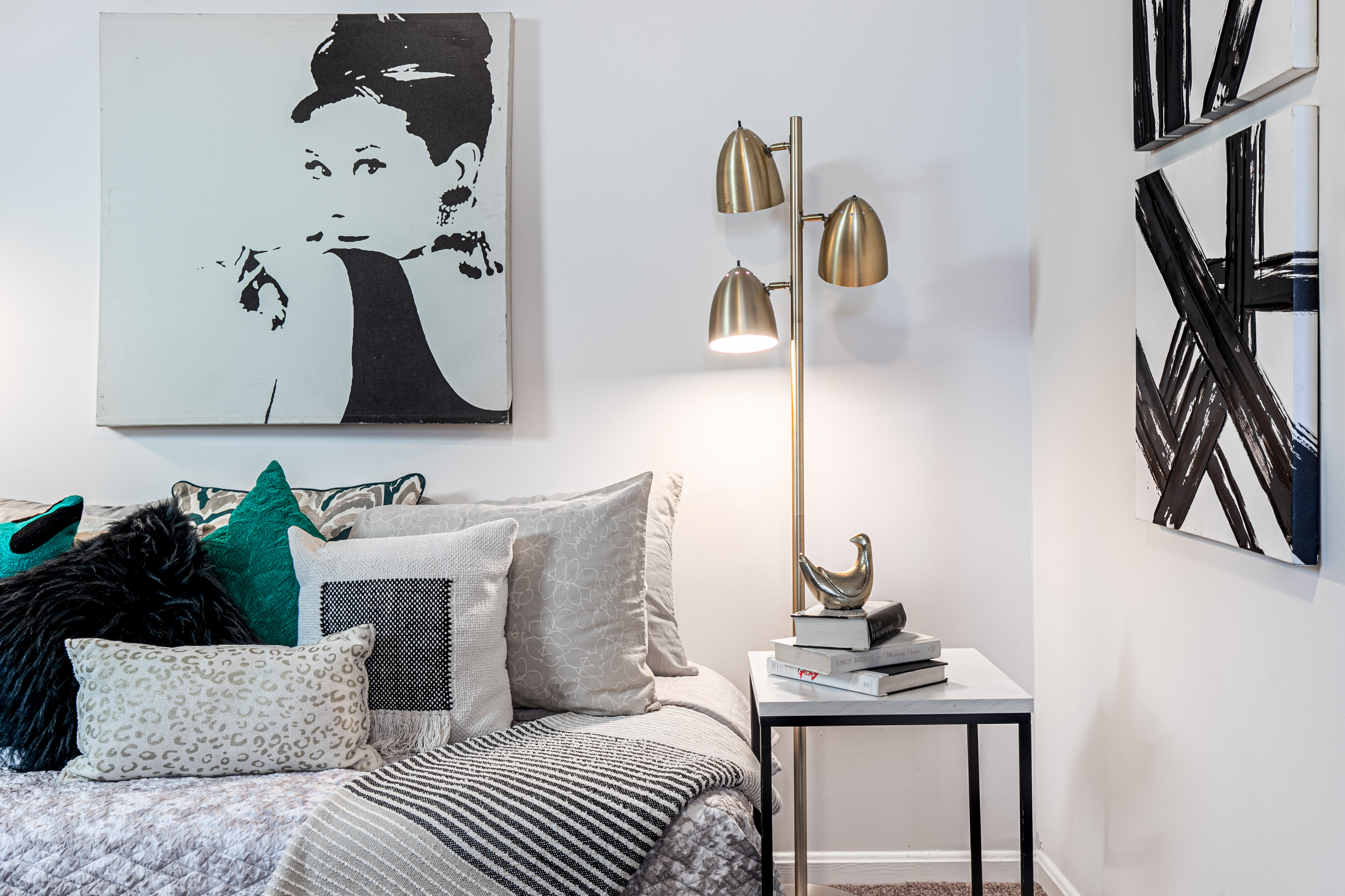 Cozy room with a chic flair