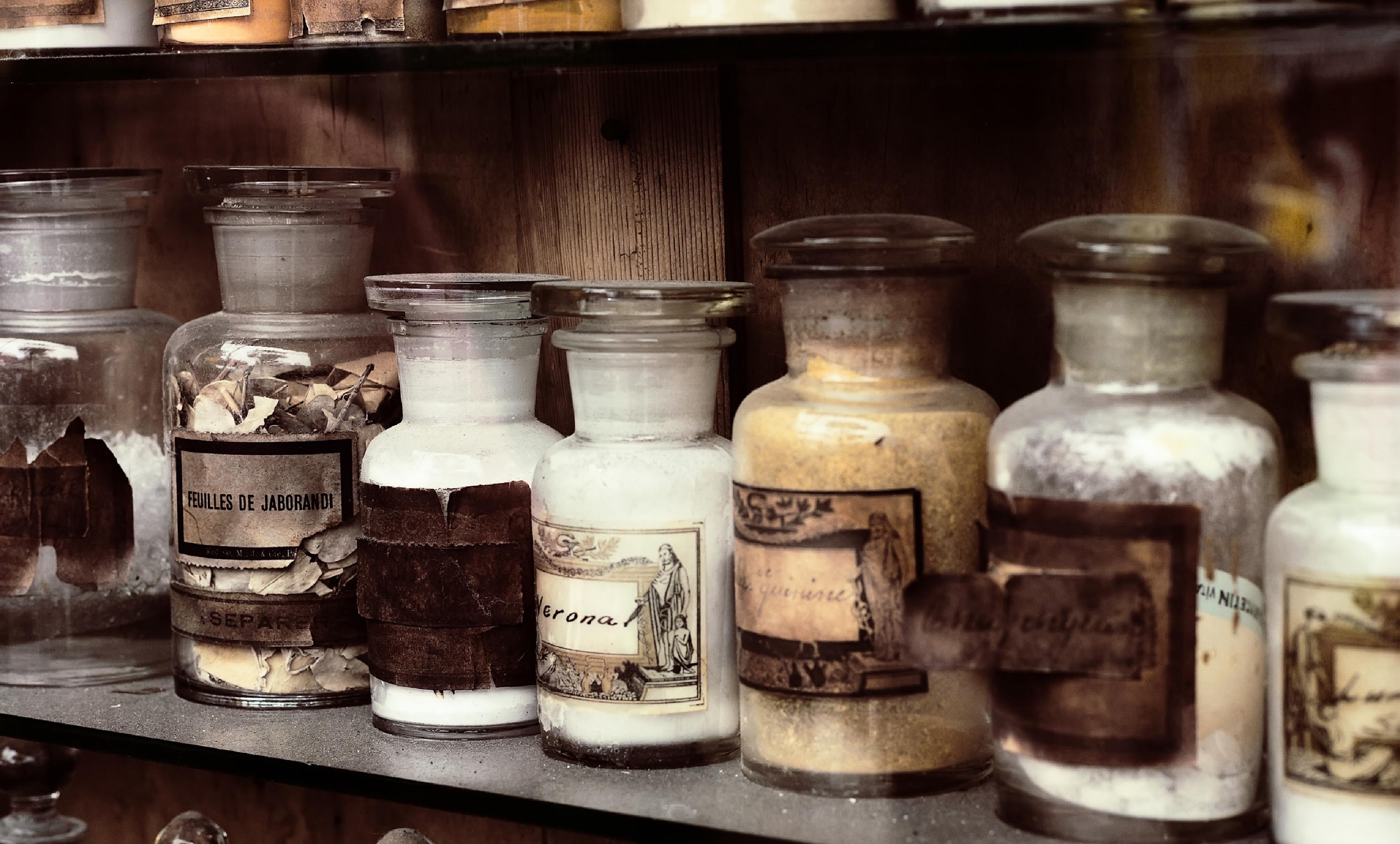 antique medicine containers