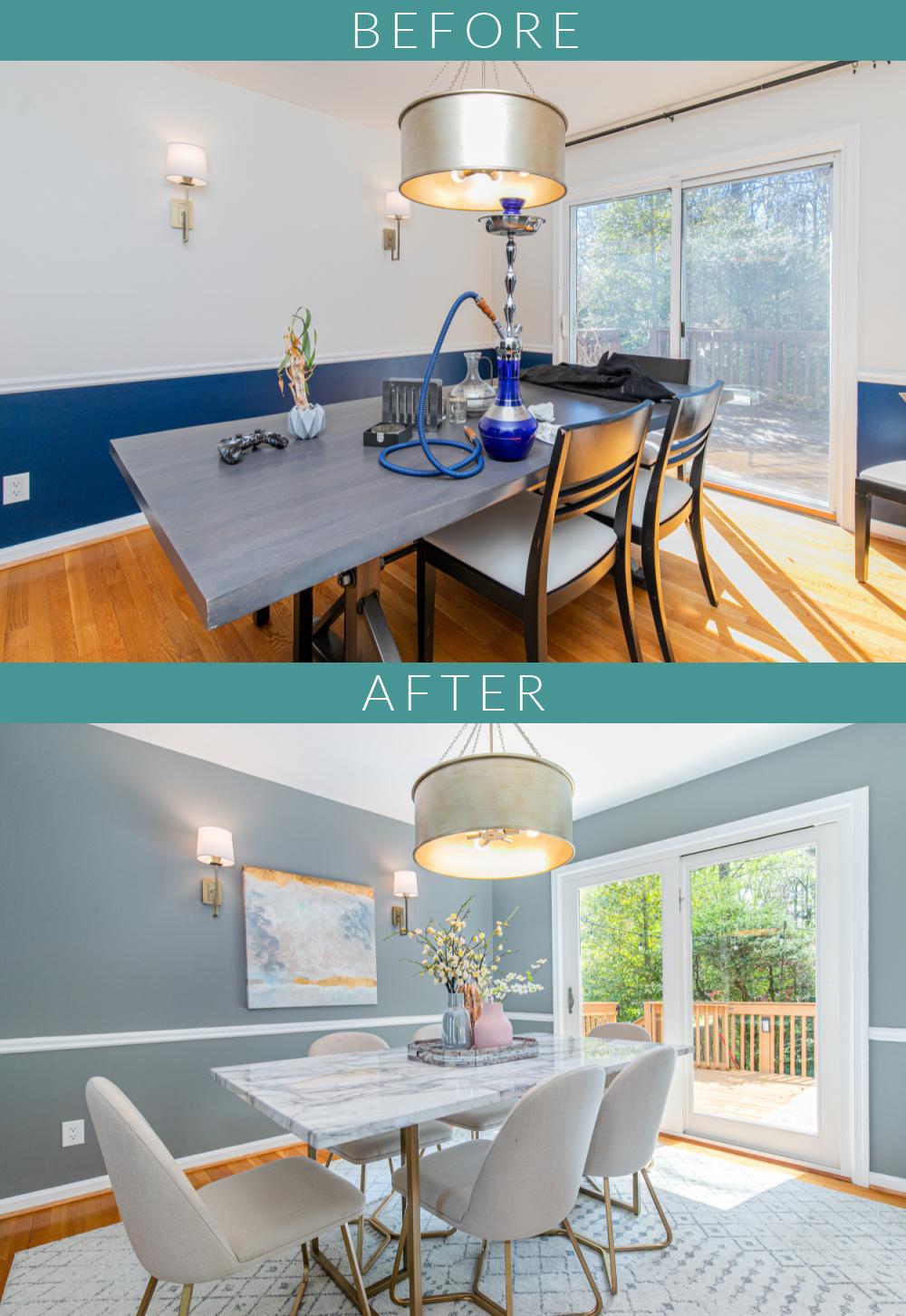 Bold dining room gets market-ready