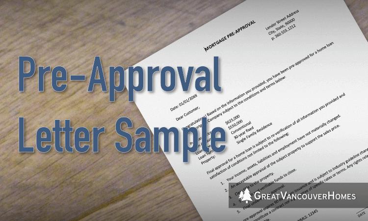 Loan Pre Approval Letter