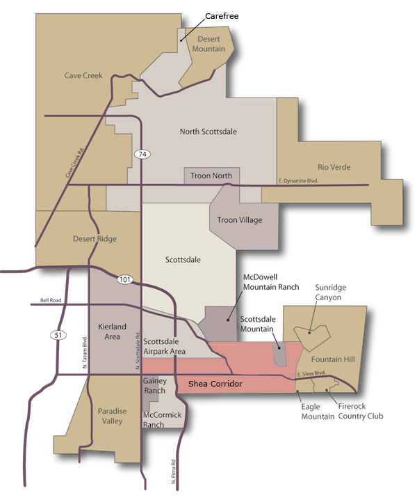 Shea Corridor - Fountain Hills Arizona