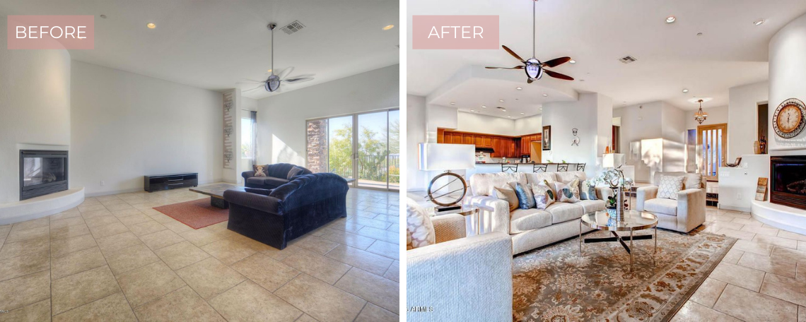 Staging Fountain Hills Homes