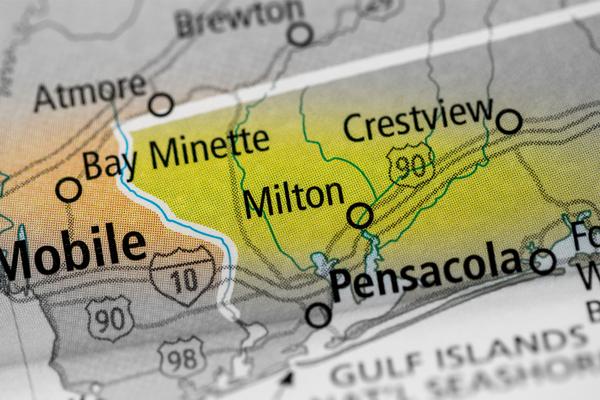 Milton, Florida map