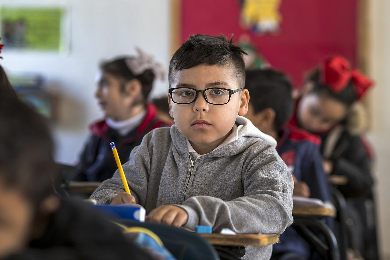 elementary boy at school