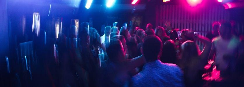 exciting nightclub scene