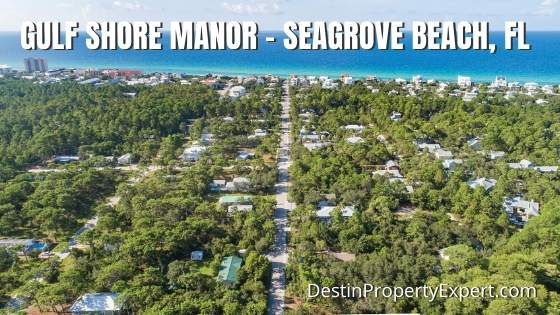Gulf Shore Manor homes for sale 30a in Seagrove Beach
