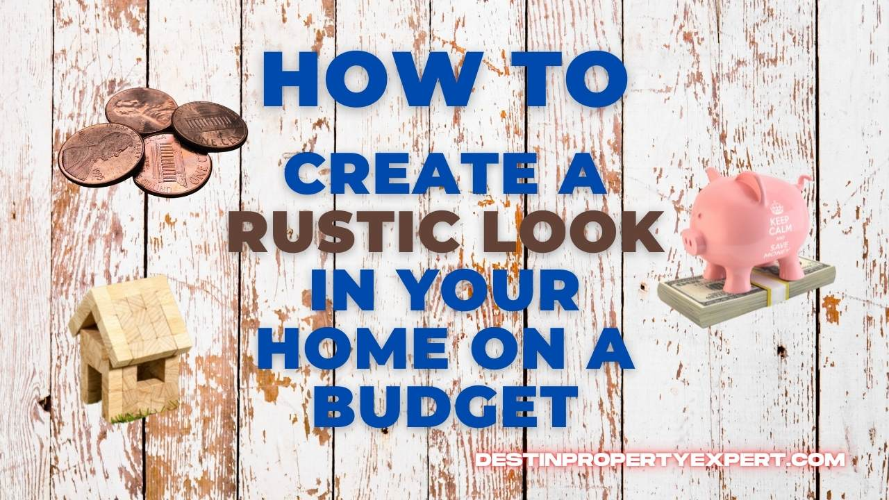 Rustic look in home on a budget