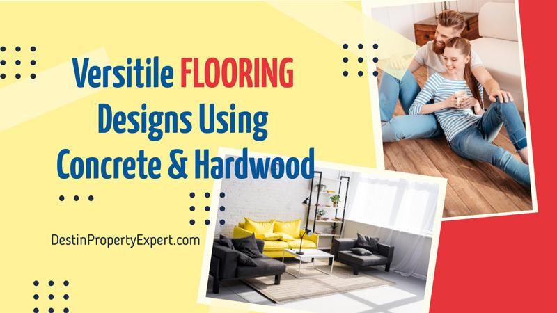 Creative ideas for concrete and hardwood flooring design