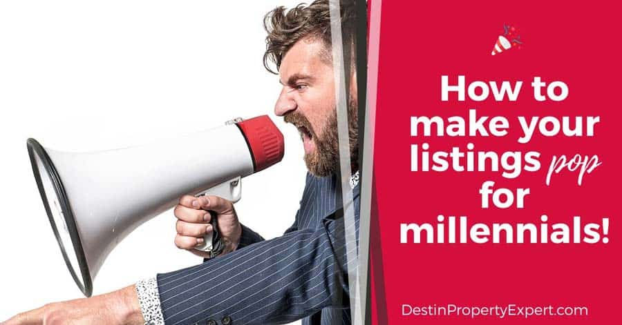 how to make a home listing pop for millennial's