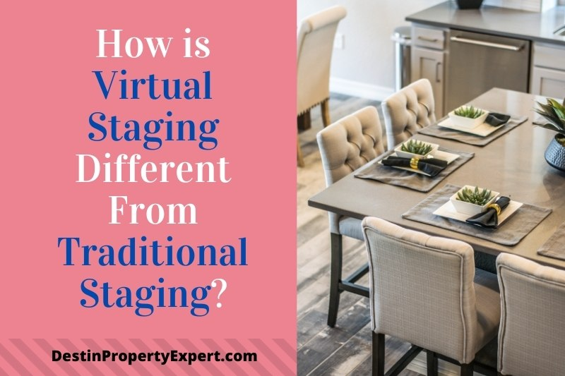 How is virtual staging different than traditional staging