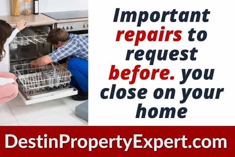 Important repairs to request from the seller before closing on your home