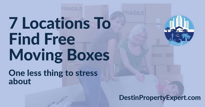 Locations to find free moving boxes in Destin and Santa Rosa Beach Florida