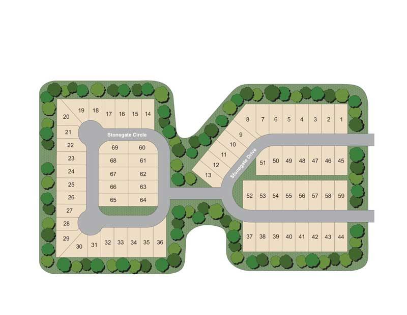 Stonegate neighborhood layout in North Santa Rosa Beach