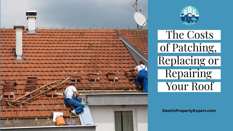 Roofing costs of replacing or repairing