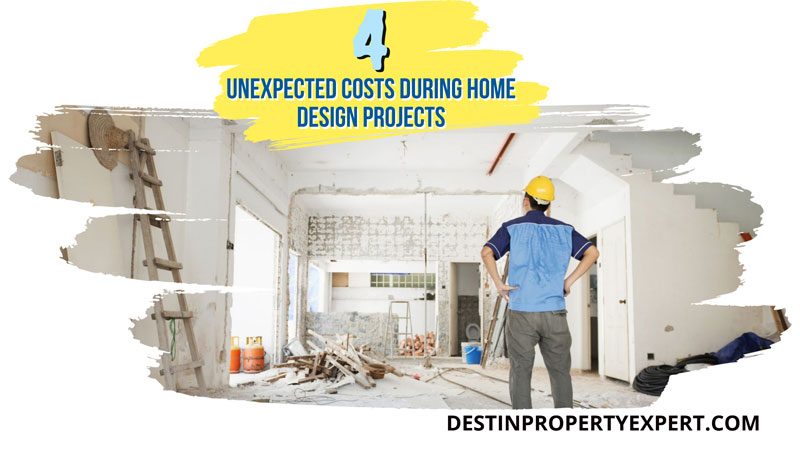 Unexpected costs during home design projects